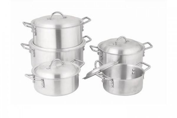 Aluminium Pot 5 Sets